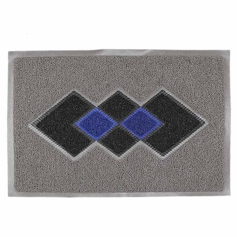 PVC Door Mat 15 x 22 - Grey