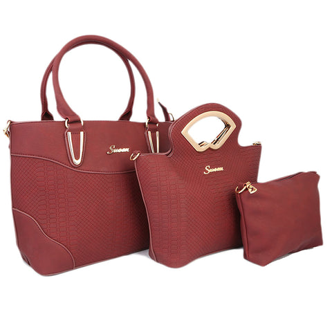 Ladies HandBag 3Pc 9724 - BARY ANDY
