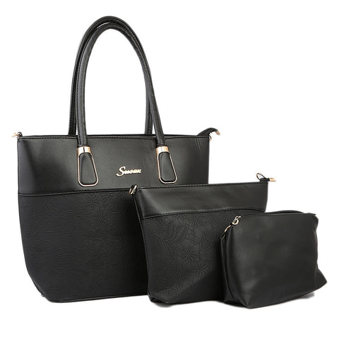 Women's Handbag 3Pcs - Black