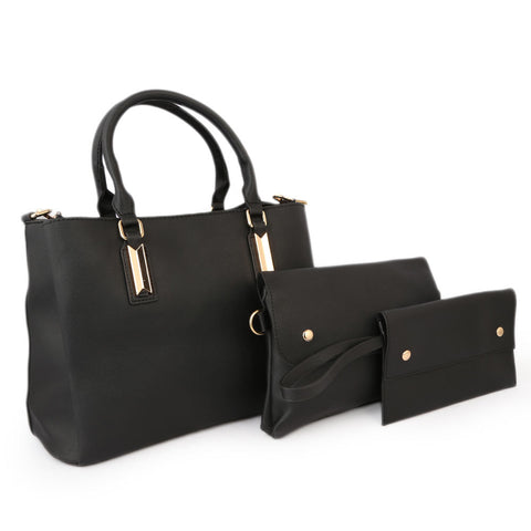 Women's Handbag 3Pcs 8842 - Black