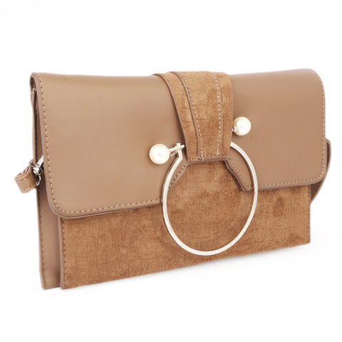Ladies Clutch 68011 - Tan