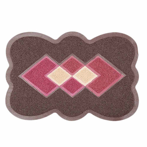 PVC Door Mat 14 x 22 - Brown
