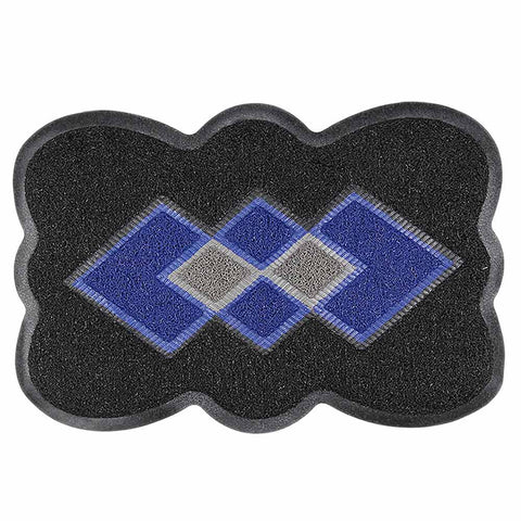 PVC Door Mat 14 x 22 - Black