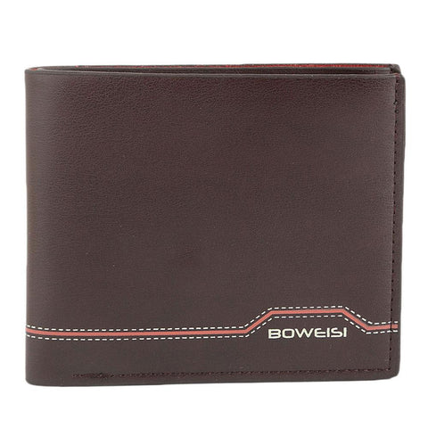Men's Leather Wallet - Dark Brown - test-store-for-chase-value