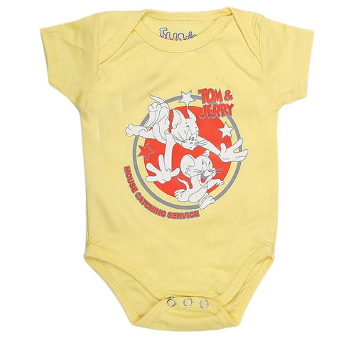 Newborn Girls Romper - Yellow - test-store-for-chase-value
