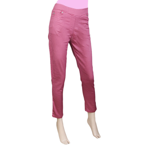 Women's Jegging - Dark Peach