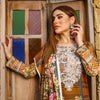 Majestic Floral Digital Printed & Embroidered Lawn 3 Pcs Un-Stitched Suit  DA2252