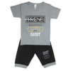 Boys Half Sleeves Suit - Grey