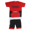 Boys Half Sleeves Suit - Red