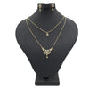 Women's American Diamond Jewelry Set - Golden