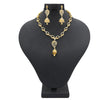 Women's American Diamond Necklace Set - Golden