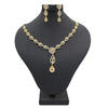 Women's American Diamond Necklace Set - Copper