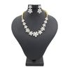 Women's American Diamond Bridal Set - Golden & Silver
