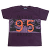 Boys Round Neck Half Sleeves T-Shirt - Purple