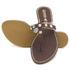 Women's Fancy Slippers KL-049 - Brown