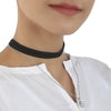 Women's Black Choker Necklaces - Silver