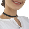 Women's Black Choker Necklaces - Purple