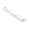 "Ruler Set 8"" 98-99 - White"