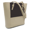 Women's Handbag H-81 - Beige & Coffee
