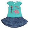 Girls Skirt Suits 122 SML - Sea Green