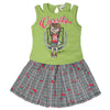 Girls Skirt Suits 110 SML - Green