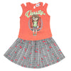 Girls Skirt Suits 110 SML - Orange