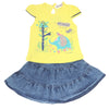Girls Skirt Suits 122 SML - Yellow