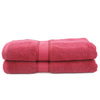 Terry Fancy Bath Towel - Maroon