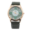 Men's Skeleton Strap Watch - Green