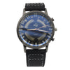 Men's Skeleton Strap Watch - Black
