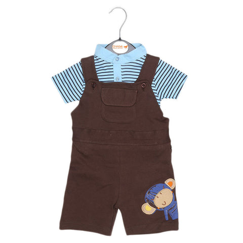 Eminent Newborn Romper - Dark Brown - test-store-for-chase-value