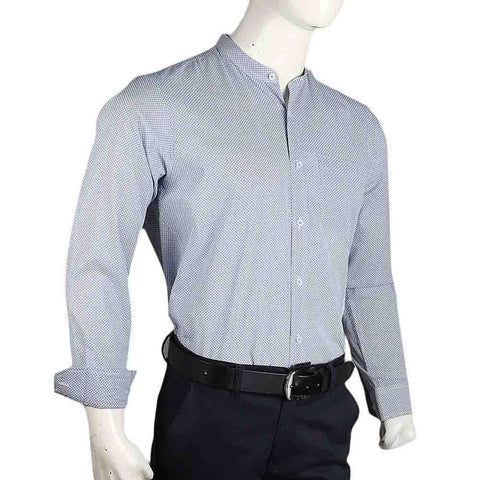 Men's Business Casual Shirt - Grey