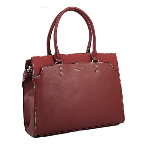 Women's Handbag 6127-2 - Dark Bordeaux