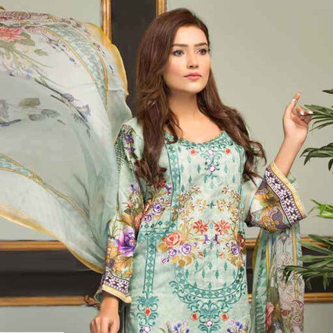 Ethereal Viscose Jacquard Embroidered 3 Piece Un-Stitched Suit - EKR-310