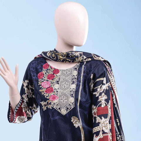 Ethnic Embroidered Cambric 3 Pieces Un-Stitched Suit - ET-03