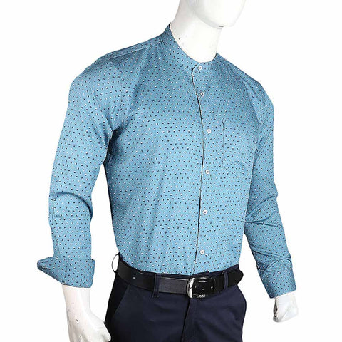 Men's Business Casual Shirt - Steel Green