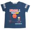 Boys Half Sleeves T-Shirt - Steel Blue