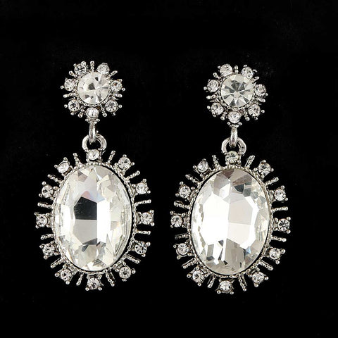 Women's Fancy Earrings - Silver White