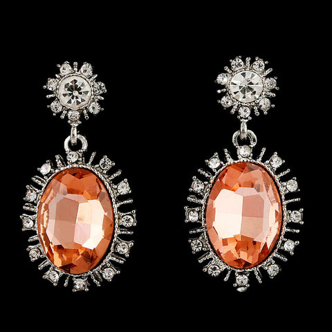 Women's Fancy Earrings - Silver Peach