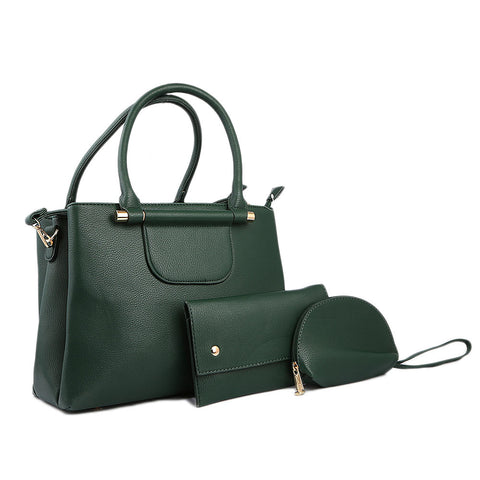 Women's Handbag 3 Piece - Green