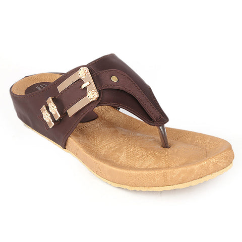 Women's Softy Slipper (H-550) - Brown - test-store-for-chase-value