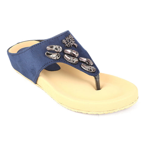 Women's Softy Slipper (H-551) - Blue - test-store-for-chase-value