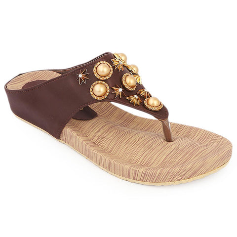 Women's Softy Slipper ( H553 ) - Brown