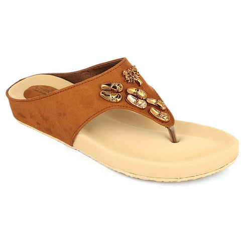 Women's Softy Slipper ( H-551 ) - Mustard