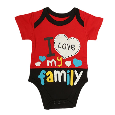 Newborn Boys Body Romper - Red