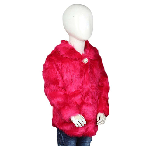 Girls Fur Jacket - Pink