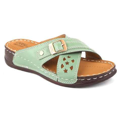 Women's Softy Slipper ( S1 ) - Green - test-store-for-chase-value