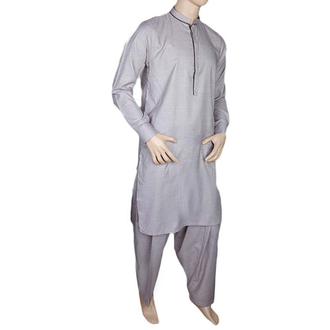 Fancy Shalwar Suit For Men - Light Grey