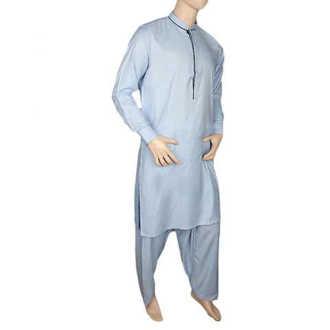 Fancy Shalwar Suit For Men - Light Blue