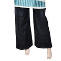 Women's Embroidered Bell Bottom Trouser - Black